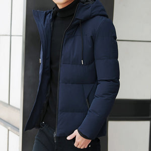MRMT 2020 Brand New Men's Jackets Leisure Thickened Warm Overcoat for Male Windproof Hat Jacket Outer Wear Clothing Garment