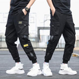 New spring hip hop pants club singer stage costume trousers Ribbons streetwear joggers sweatpants