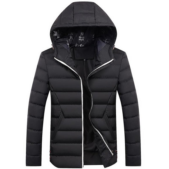 MRMT 2020 Brand New men's Jackets hooded padded slim down feather Overcoat For Male cotton youth casual wild cotton coat Jacket
