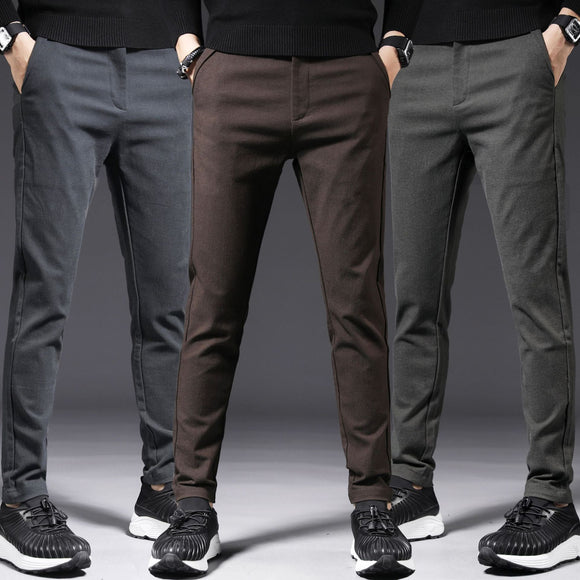 MRMT 2020 Brand Autumn and Winter Men's Trousers Thick Cotton Casual Trousers Pants for Male Non-ironing Trousers