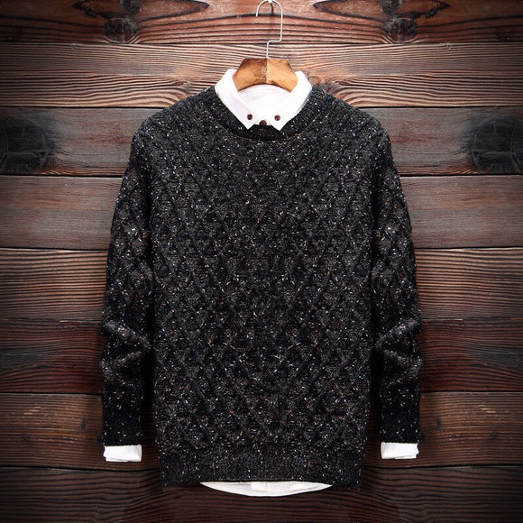 MRMT 2020 Brand New Men's Sweater Sweater Round Collar  Pullover for Male Youth Camouflage Snowy Knitting Sweaters