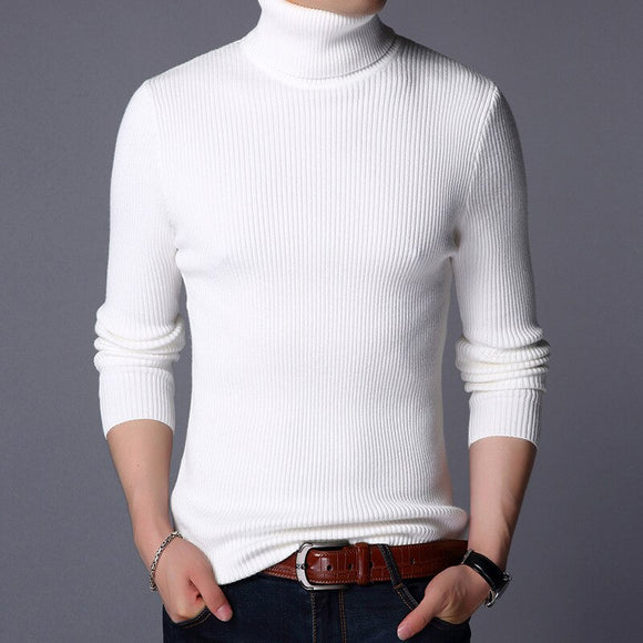 MRMT 2020 Brand New Men's Sweater Solid Color and Thickening Pullover for Male High-necked Sweaters Woolen   Sweaters