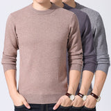 MRMT 2020 Brand Winter Men's Thick Round Neck Sweater Solid Color Wild Sweater Slim Turtleneck Warm for Male Knit Sweater
