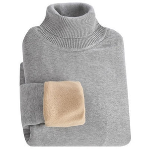 MRMT 2020 Brand Winter Men's Sweater Thickened High Necked Sweater for Male Leisure Solid Color Long Sleeve Warm Sweater
