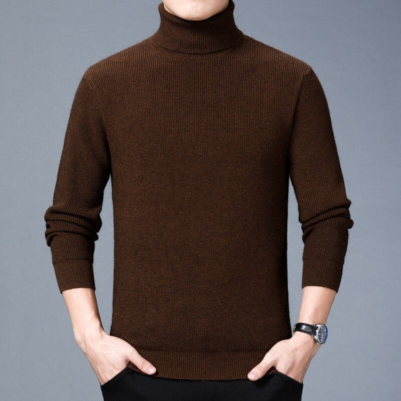 MRMT 2020 Brand Winter New Casual Men's Sweaters High Collar Shirt for Male Solid Color Warm Knitted Sweater