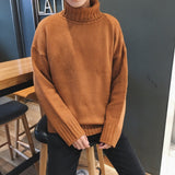 MRMT 2020 Brand New Autumn and Winter Men's Sweater Long-sleeved Youth Solid Color Pullover for Male High-neck Casual Sweater