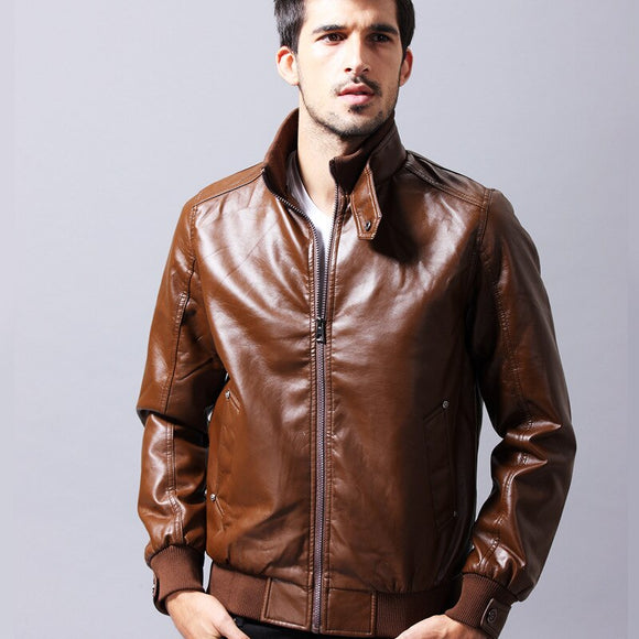 MRMT 2020 Brand New Men's Jackets Leather PU Leather Motorcycle Leather Jackets for Male Casual Wear Outer Wear Clothing