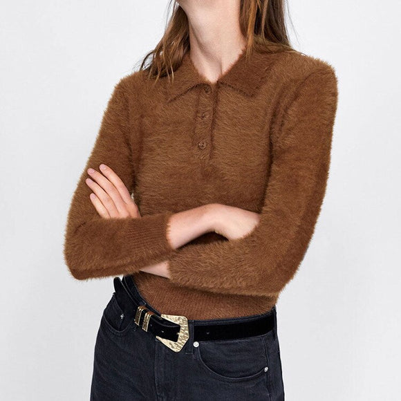 MRMT 2020 Brand New Wemon's Sweaters Long-sleeved Shirt for Female Round-necked Loose-knit Sweaters