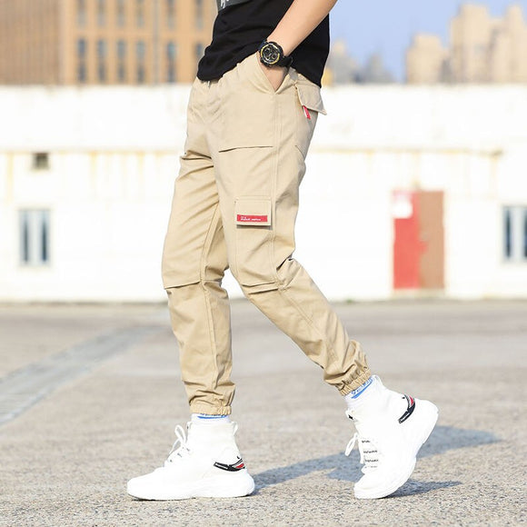 2020 Pockets Cargo Harem Pants Mens Casual Joggers Baggy Tactical Trousers Harajuku Streetwear Hip Hop Fashion Swag XXXL