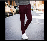 MRMT 2020 Brand New  Men's Trousers Solid Color Casual Pants for Male Stretch Trousers