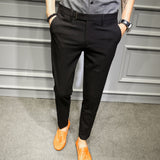 MRMT 2020 Brand Autumn and Winter New Men's Trousers Slim Solid Color Casual Pants for Male Straight Small Feet Long Trouser