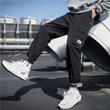 Hip Hop Man Jogger Camouflage Side Pockets Loose Style Men's Sweatpants Fashion 2020 High Street Casual Pants Male Oversize