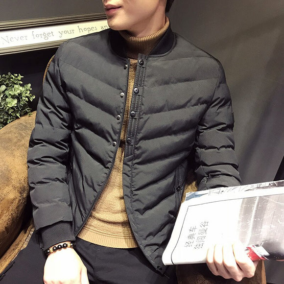 MRMT 2020 Brand Winter New Men's Jackets Casual Solid Color Baseball Collar Overcoat for Male Cotton Jacket Clothes