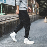 2020 Men Multi-pocket Harem Pants Trousers Men Streetwear Punk Cargo Pant Hip Hop Casual Trousers Joggers Hombre