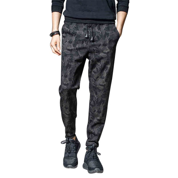 2020 New Spring Fashion Harem Pants Casual Men Camouflage Jogger Pants Solid Pencil Pants Outdoors Joggers Slim Male Trousers