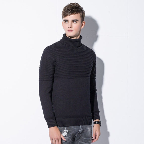 MRMT 2020 Brand Winter New Men's Sweater Long-sleeved High Neck Casual Sweater for Male Clothing Garment
