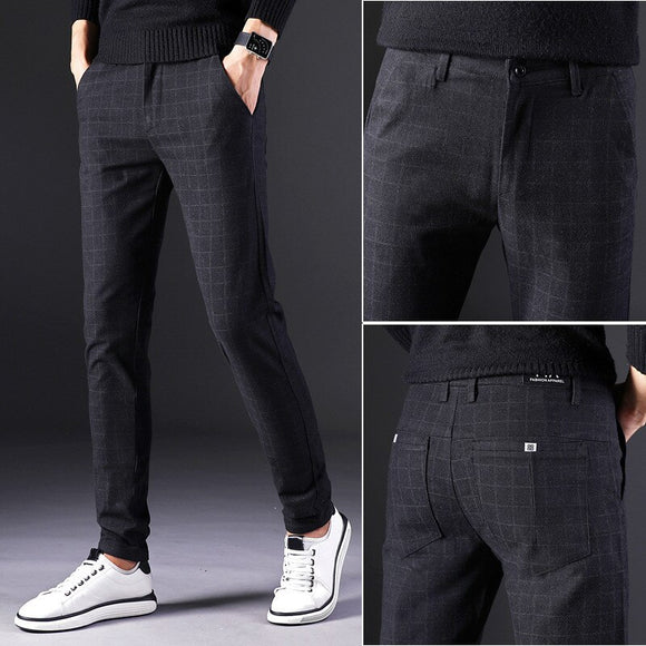 MRMT 2020 Brand Spring and Summer Men's Trousers Casual  Thin Straight Pants for Male Stretch Small Feet Trouser