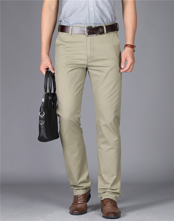 MRMT 2020 Brand Summer New Casual Men's Trousers High-waisted Pure Pants for Male Cotton Thin Straight Tube Trousers