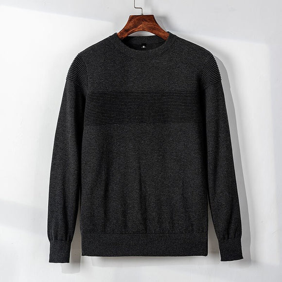 MRMT 2020 Brand New Autumn Men's TShirt Sweater Knitting Shirt Fashion T-shirt for Male Round-collar Pullover Pure Color Sweater