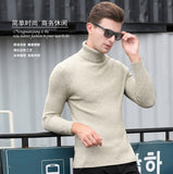 MRMT 2020 Brand New Autumn Winter Men's High Collar Sweater Slim Pullover for Man Solid Color Cashmere Bottoming Sweater