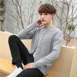 MRMT 2020 Brand Spring Autumn New Men's Sweaters Round Neck Knitting Sweaters Leisure Thin for Male Cardigan Sweater Coat