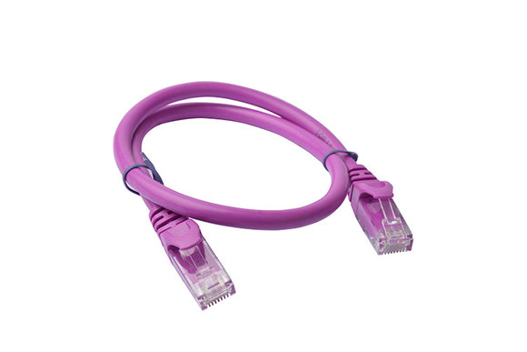 8Ware Cat6a UTP Ethernet Cable 25cm Snagless Purple