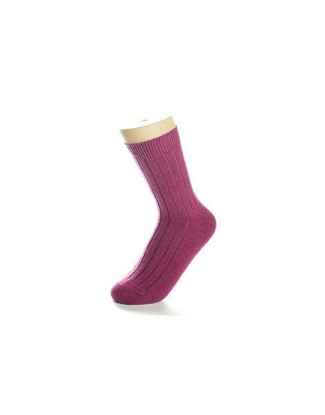 Cozy Magenta Socks