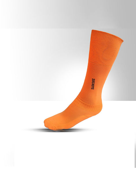 Neon Orange Football Socks