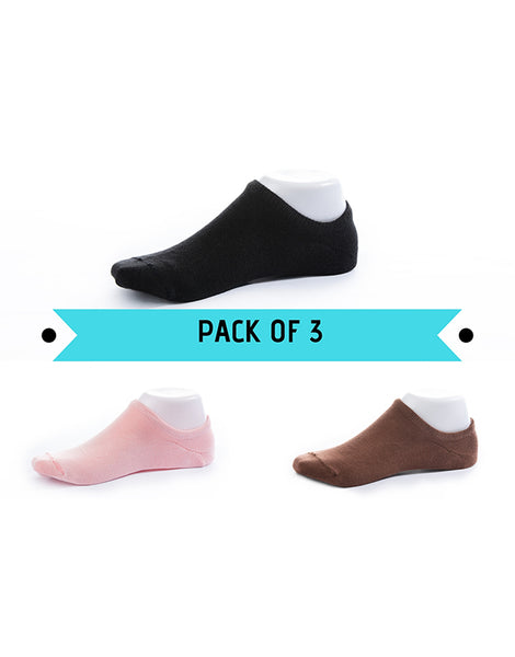 No Show Socks Pack of 3