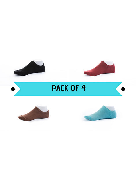 No Show Socks Pack of 4