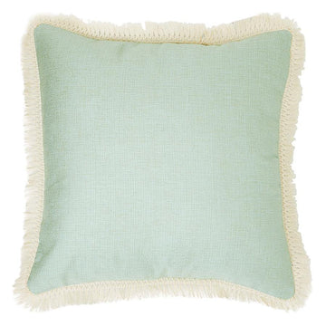 Aqua with Fringe Cushion 45cm