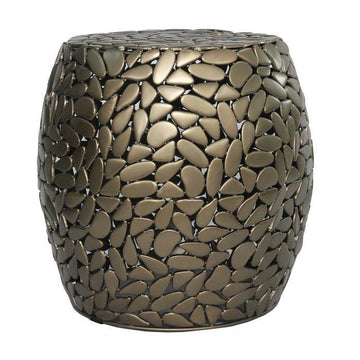 Gold Pebble Drum Table
