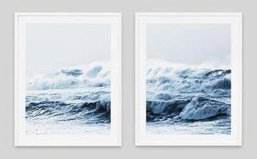 Ocean Pair Framed Photographs
