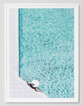 Poolside Framed Photograph