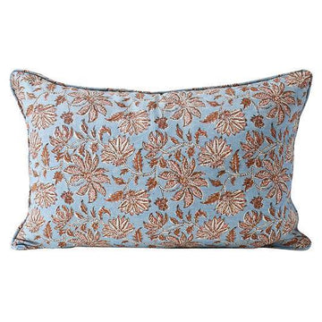 Uluwatu Winter Bloom Linen Cushion 35x55cm