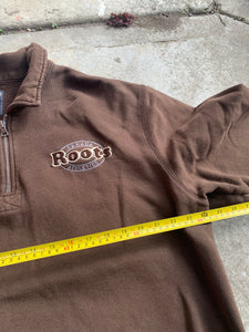 '90s Roots Mocha Brown Quarter Zip