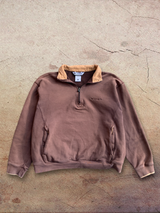 Vintage Mocha Brown Columbia Quarter Zip