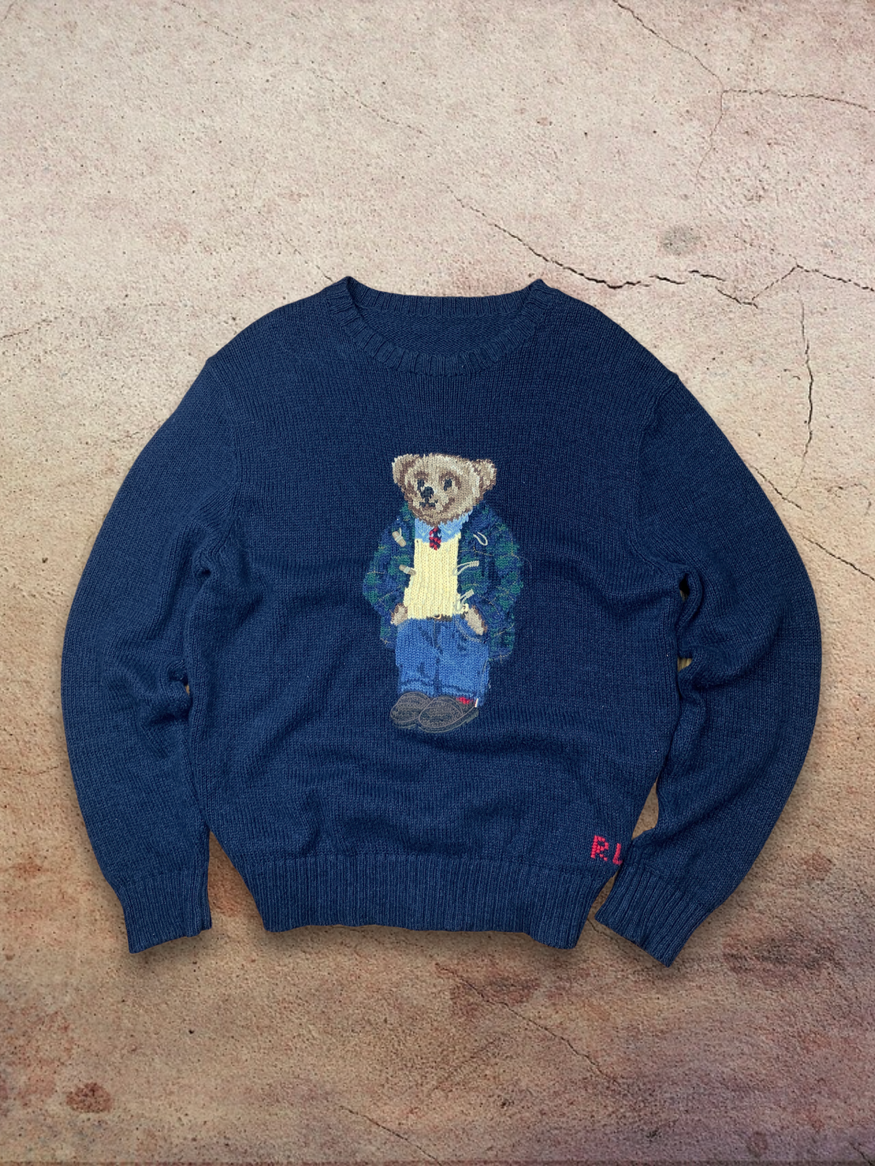 Vintage Polo Bear Knit Sweater *Free shipping