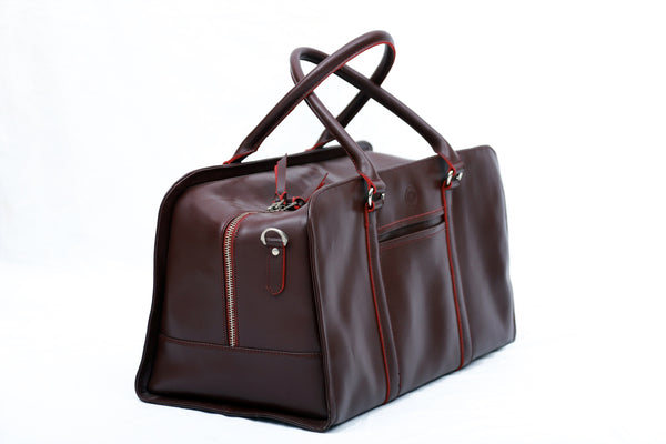 Leather Travelling Bag - Maroon