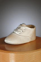 Load image into Gallery viewer, Gideon Silk - Lace Up Ivory Baby Shoe
