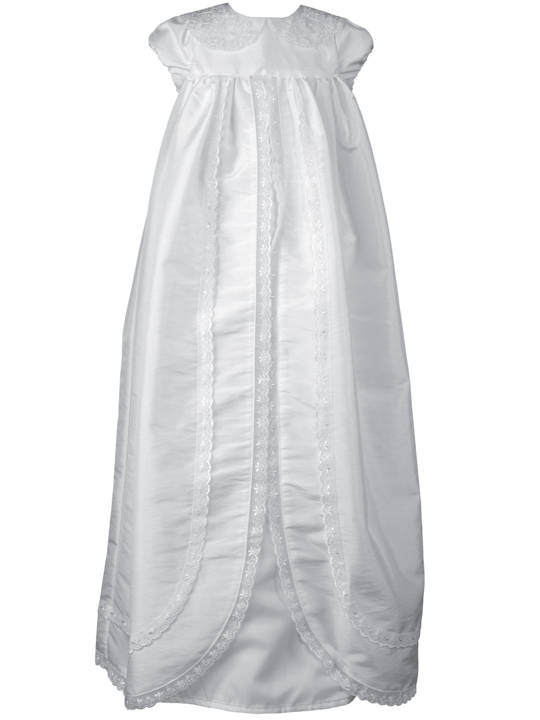 Ariana White - Unisex Traditional Long Christening Robe