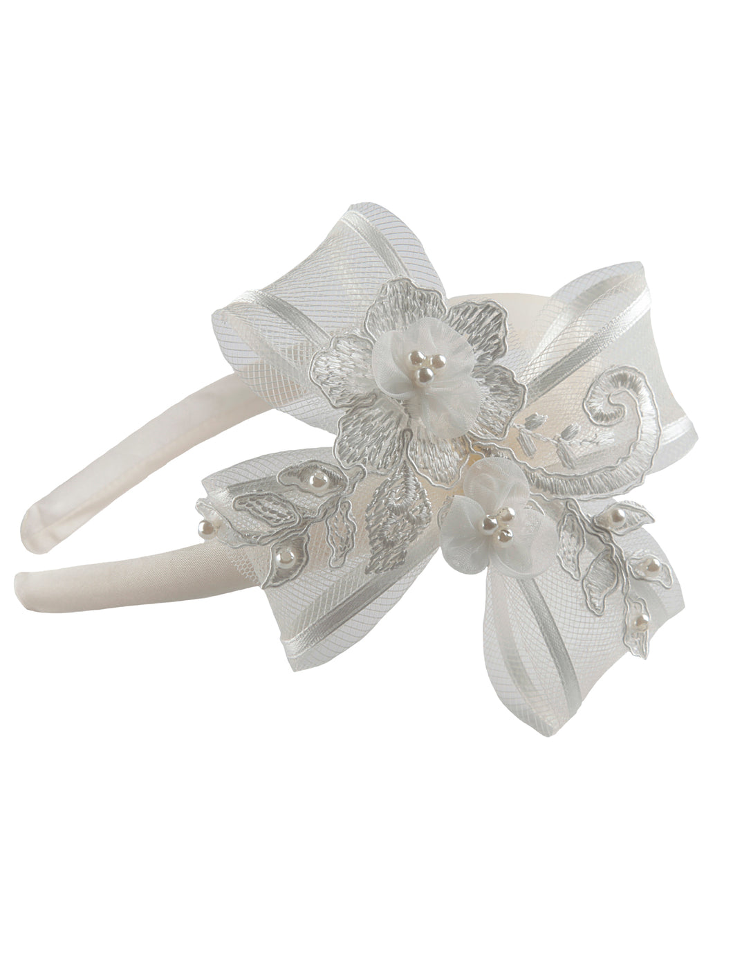 Lana - Girls Ivory Hairband