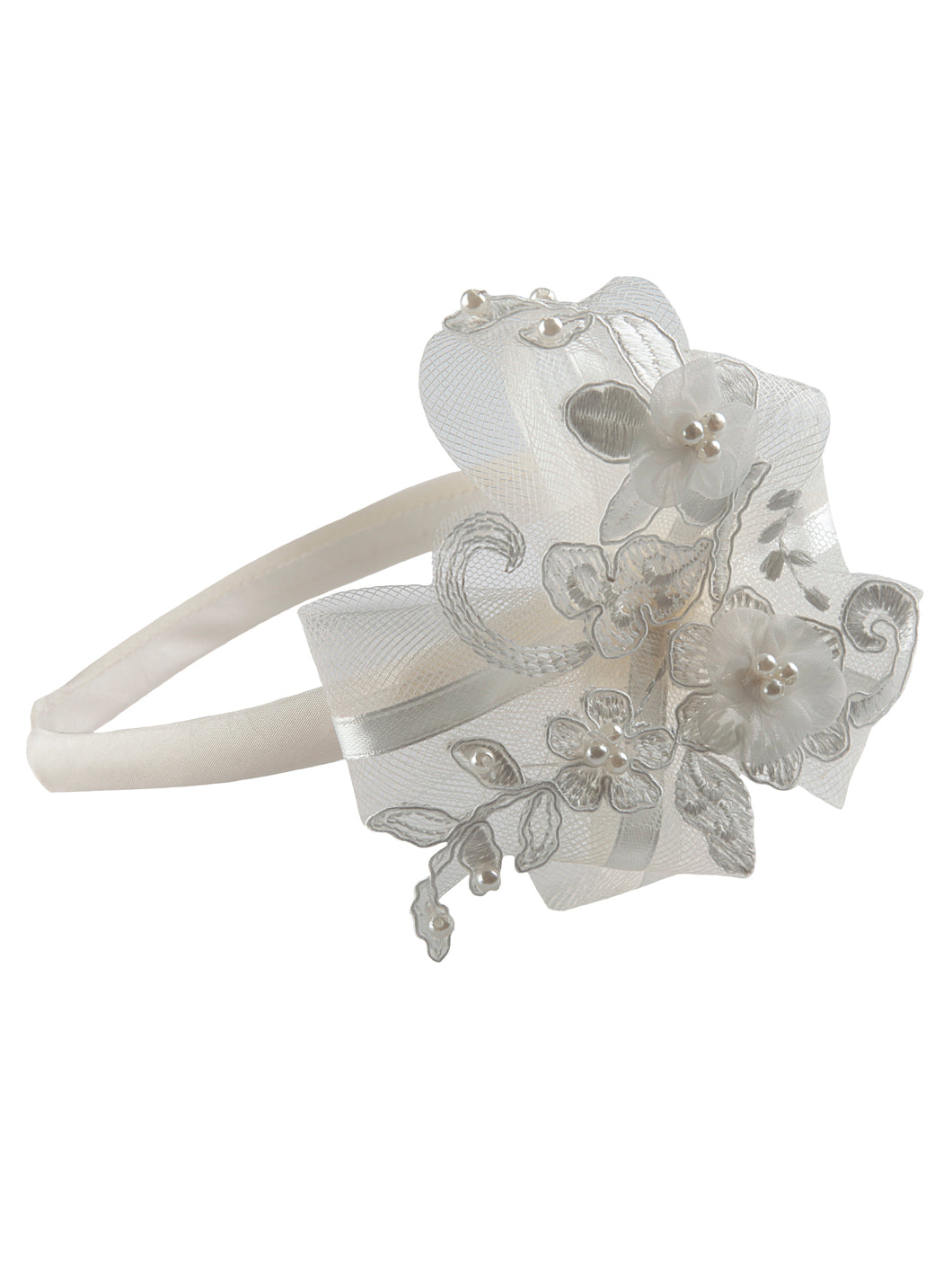 Mabel - Girls Ivory Hairband