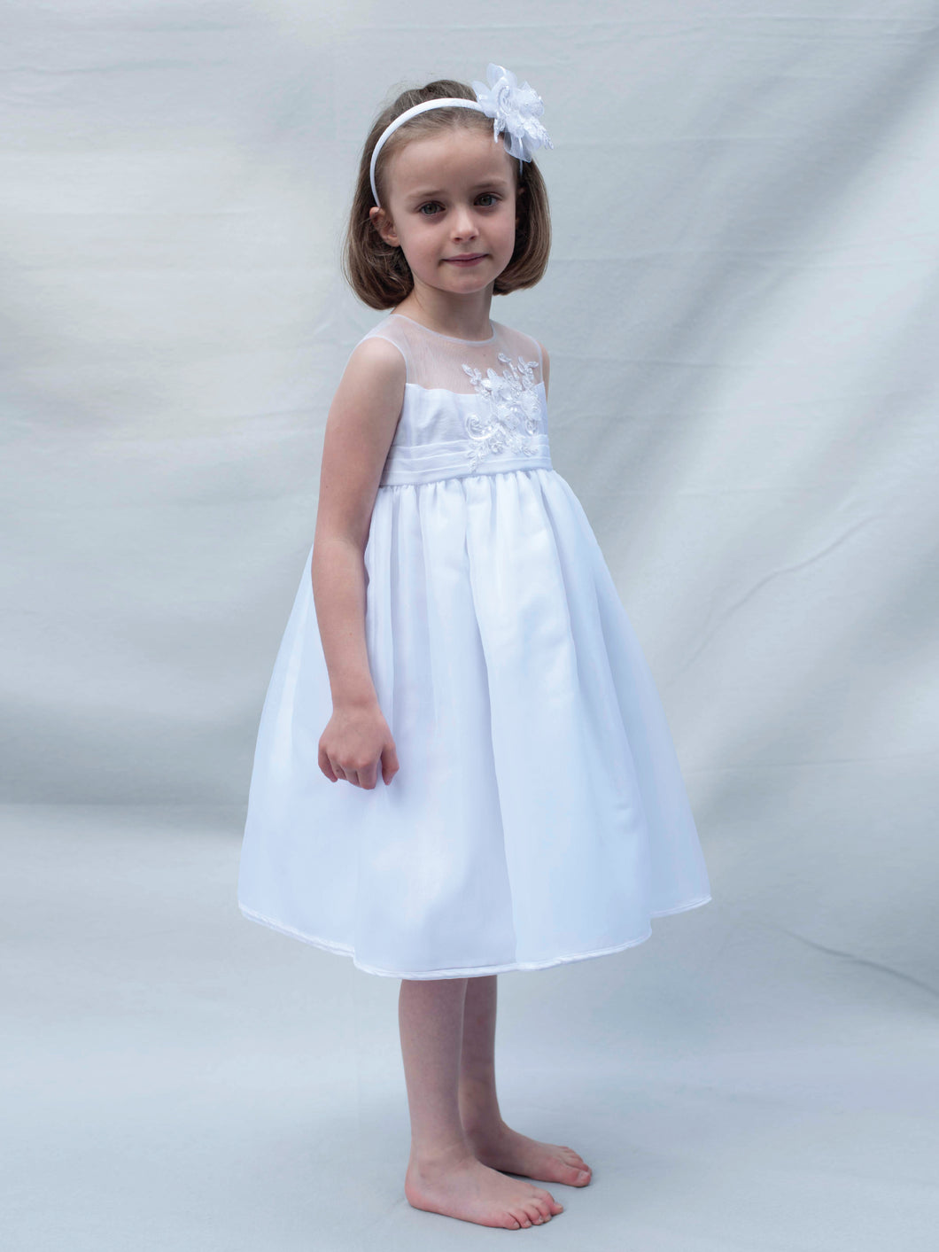 Rosie - White Special Occasion Dress