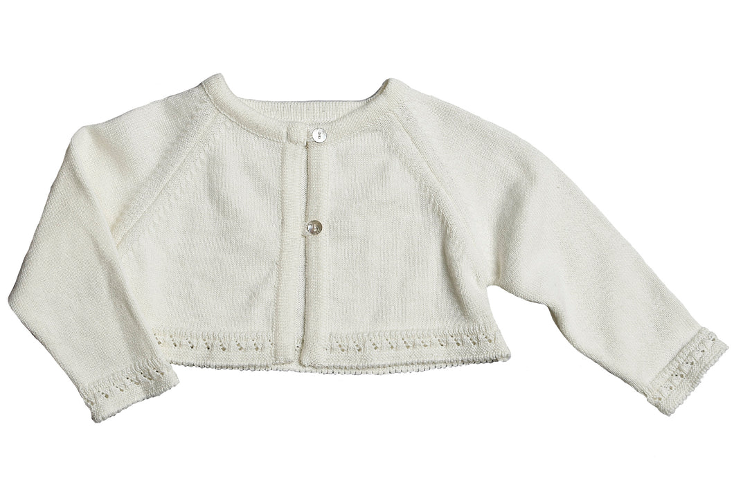 Girls Ivory Nola Cardigan