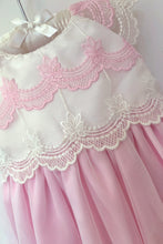 Load image into Gallery viewer, Rebecca - Pink and Ivory Lace Dress