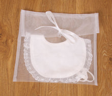 Load image into Gallery viewer, Yvette - Ivory Baby Christening Bib