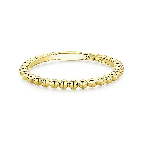 14K Gold Bujukan Beaded Stackable Ring
