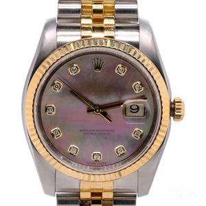 Pre-Owned 18k Yellow Gold & Stainless Steel DateJust Rolex