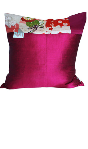 Pink Silk Cushion Cover